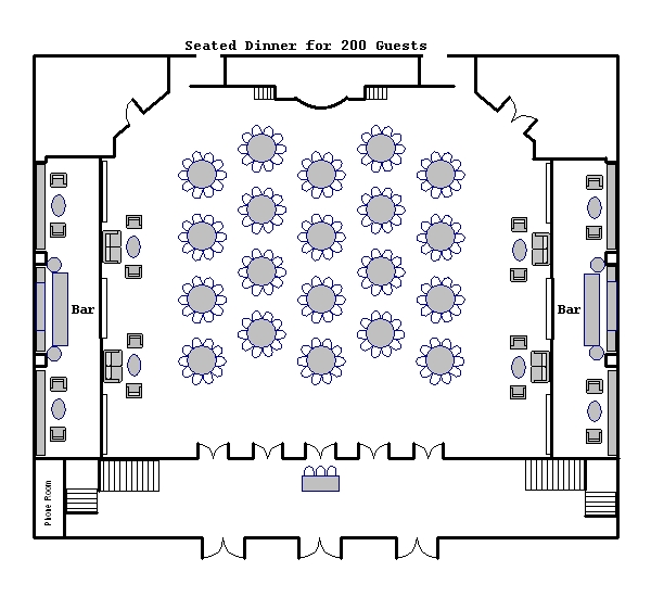 Fashion Show Seating Plan