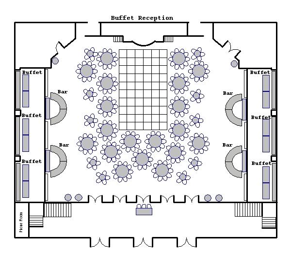 wedding reception layout planner